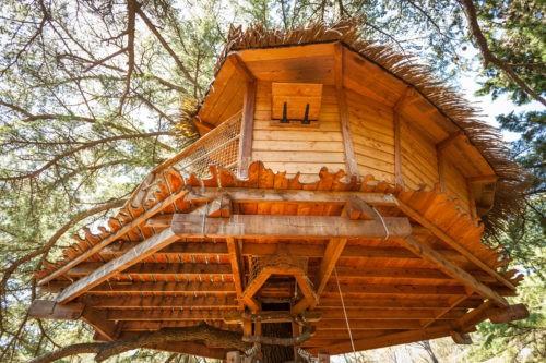 Photo - Oenotourisme - cabane dans les arbres - nature - Domaine de l'Arbousier