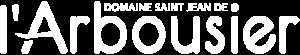 Logo - blanc - Domaine de l'Arbousier