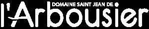 Logo - blanc footer - Domaine de l'Arbousier