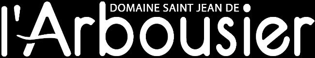 Bandeau -blanc - Logo Domaine Saint Jean de l'Arbousier