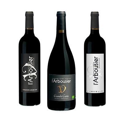 Photo détour - bouteille vin rouge biologique - Domaine Saint Jean de l'Arbousier